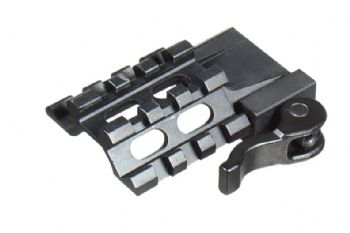 Leapers UTG Tri-Rail 3 Picatinny Slot Angle Mount with QD Lever Mount MAT032263